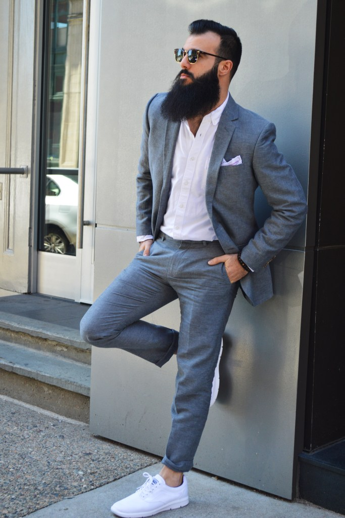 "J Crew Factory ""Thompson"" Suit from the Wrentham Outlets. Photo: © TNG"