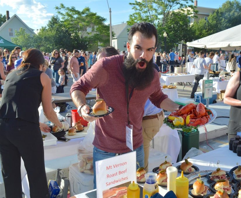 Getting pumped for some great food at Taste of Somerville, Photo: © TNG