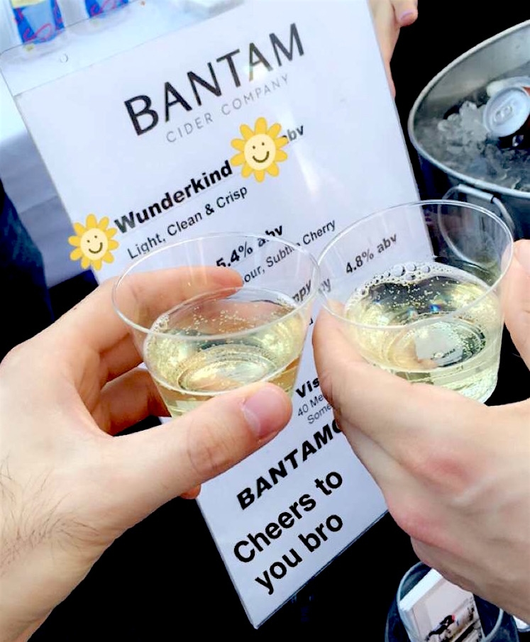 A nice, refreshing Wonderkind Cider from Bantam Cider, Photo: © TNG