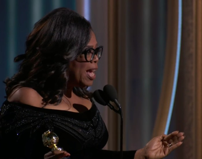 Oprah's 'Globes Speech Was What Men (and Women) Everywhere Needed