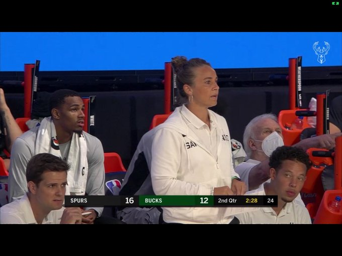 Becky Hammon Was Spurs Head Coach for Today's Scrimmage Against the Bucks