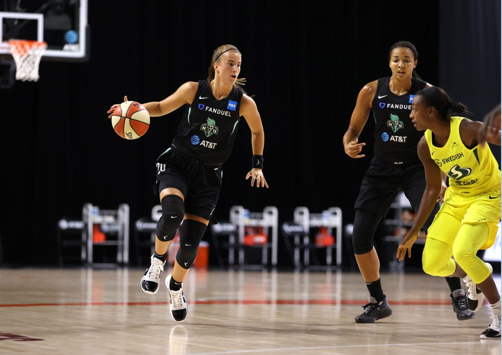 Sabrina Ionescu's debut prompts as much assurance as adjustment