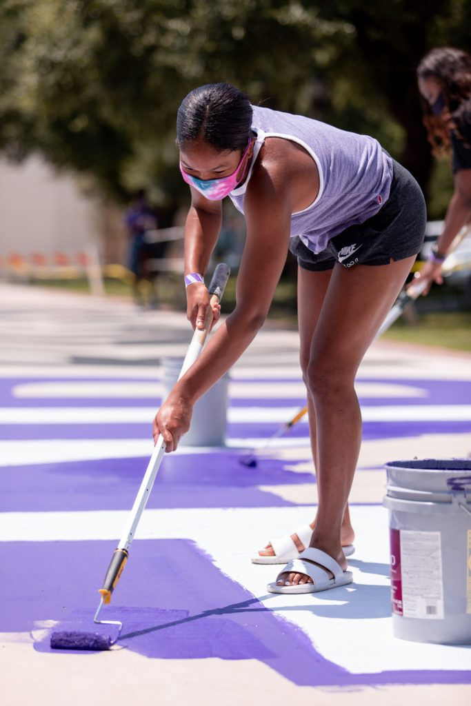 Texas Christian women's basketball players join End Racism event
