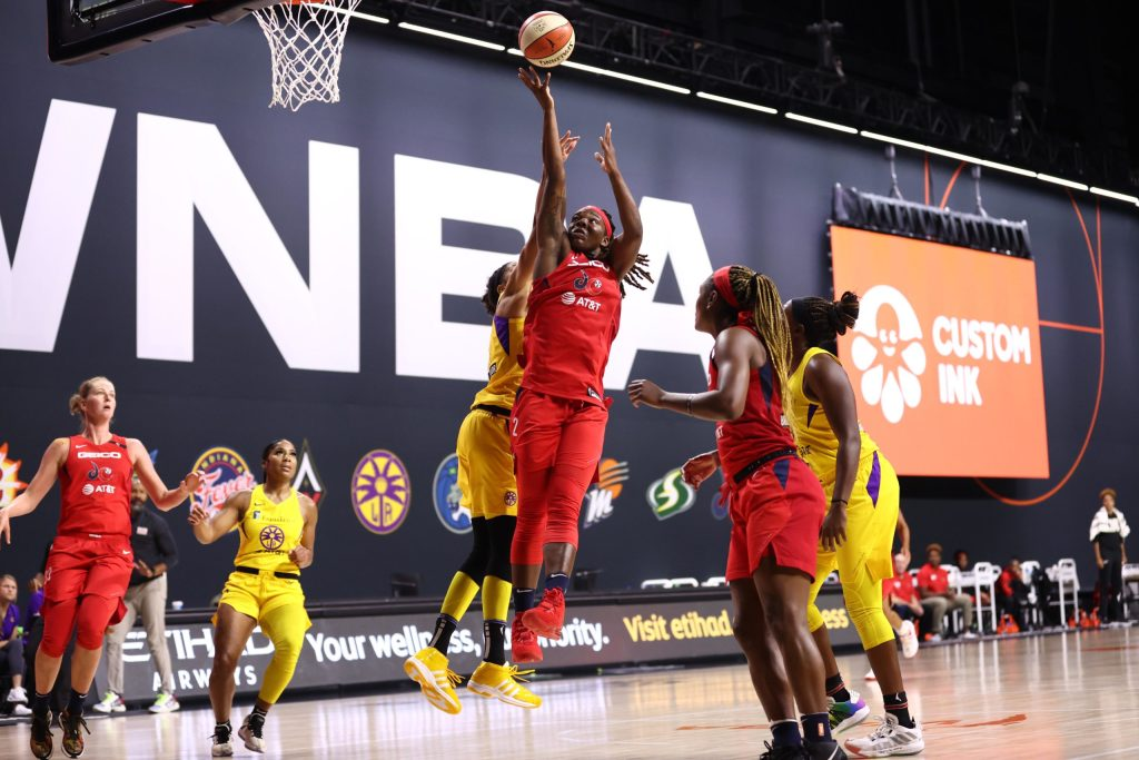 """""""She's just a beast"""": Myisha Hines-Allen has the Mystics on the cusp of the playoffs"""