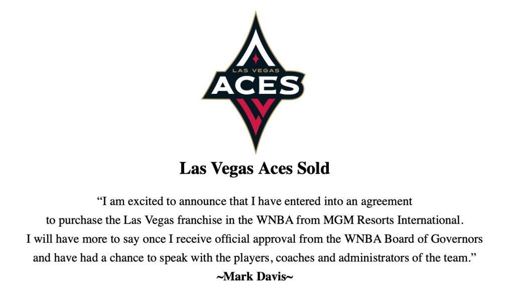 ALERT: Raiders owner Mark Davis purchases Las Vegas Aces