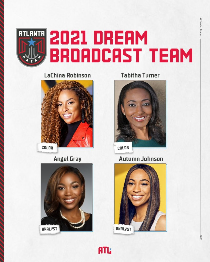 Atlanta Dream to have first all-Black, all-female broadcast team