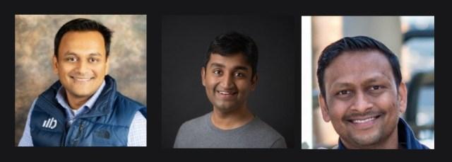 Blueshift Cofounders: Chief Technology officer Mehul Shah; Chief Executive Officer Vijay Chittoor; Chief AI Officer Manyam Mallela.