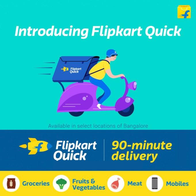 Flipkart Quick Promises 90-Minute Doorstep Delivery Across Six Indian Cities