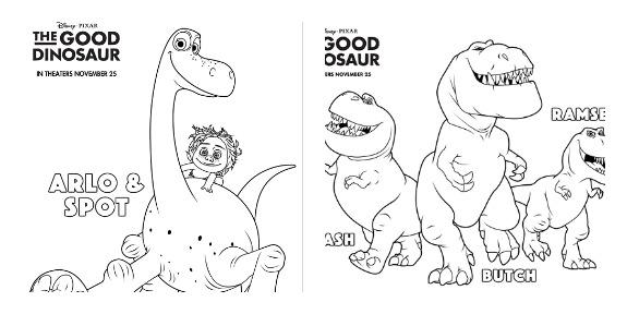 Disney/Pixar's The Good Dinosaur Trailer and Printable