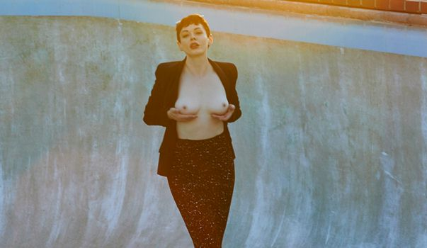 Rose McGowan Topless for Flatt Magazine