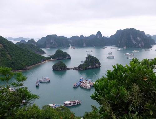 panoramic view of halong bay