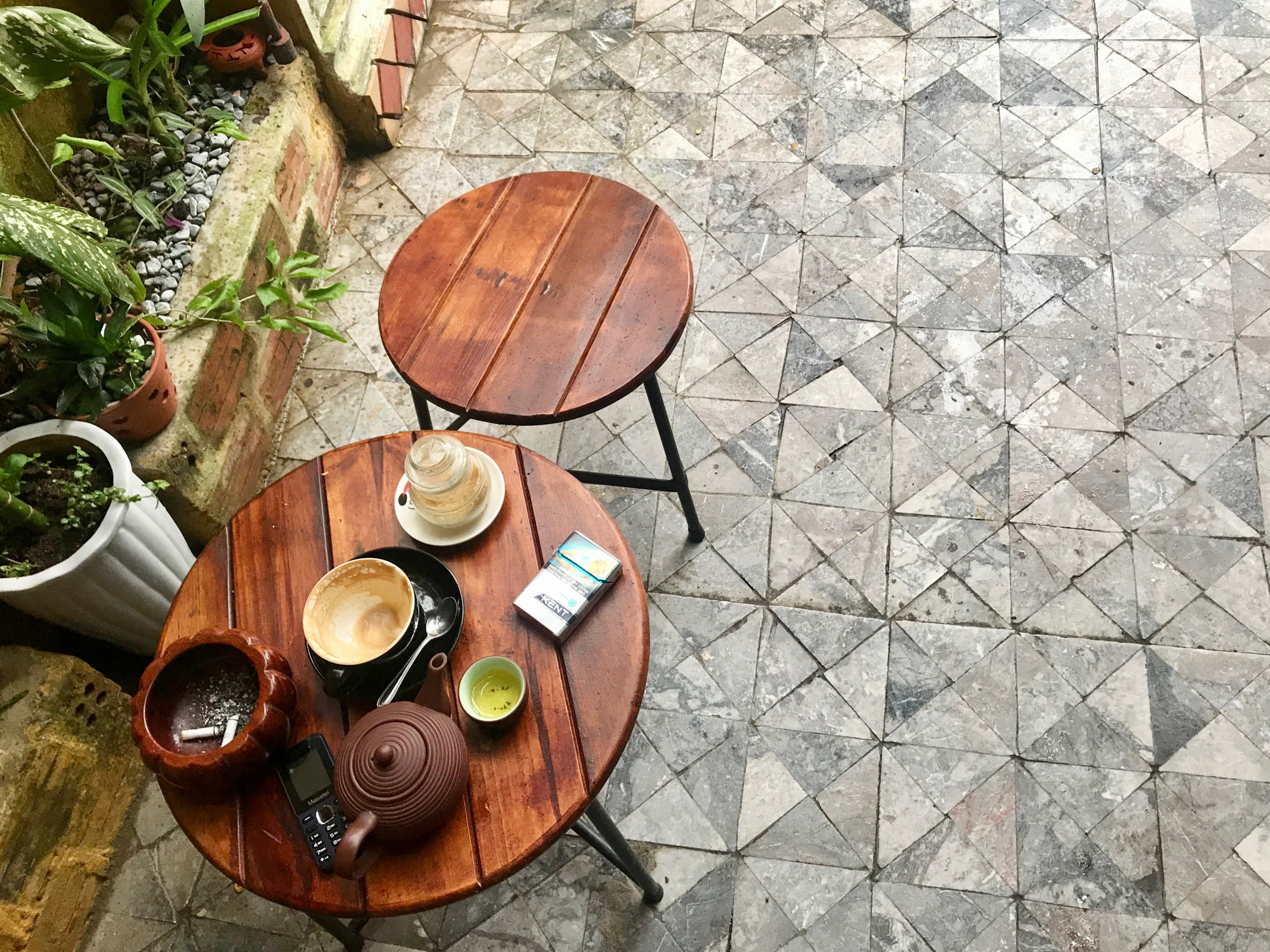 cafe table in hoi an