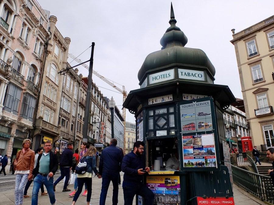 newspaper and tobacco stand in Porto