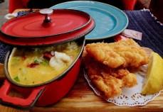 fried cod dish at bacalhau in porto