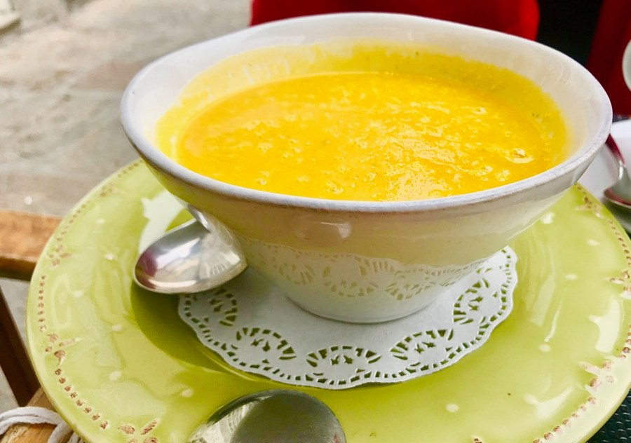 creamy vegetable soup bacalhau restaurant