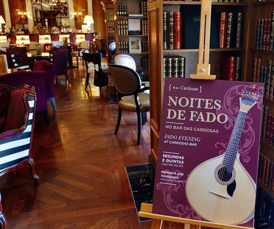 live fado music in the library bar