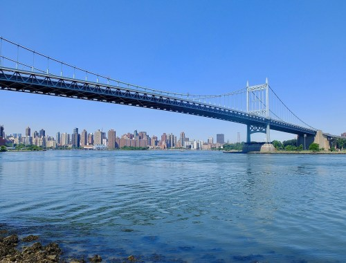 View of Manhattan and Kennedy Bridge from Astoria Parl