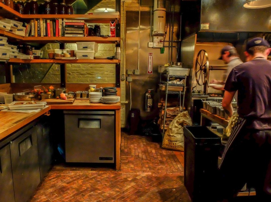 inside of kitchen at bad hunter