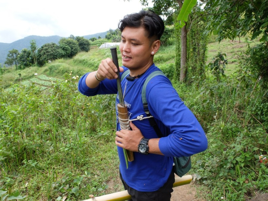tour guide in jungle in thailand