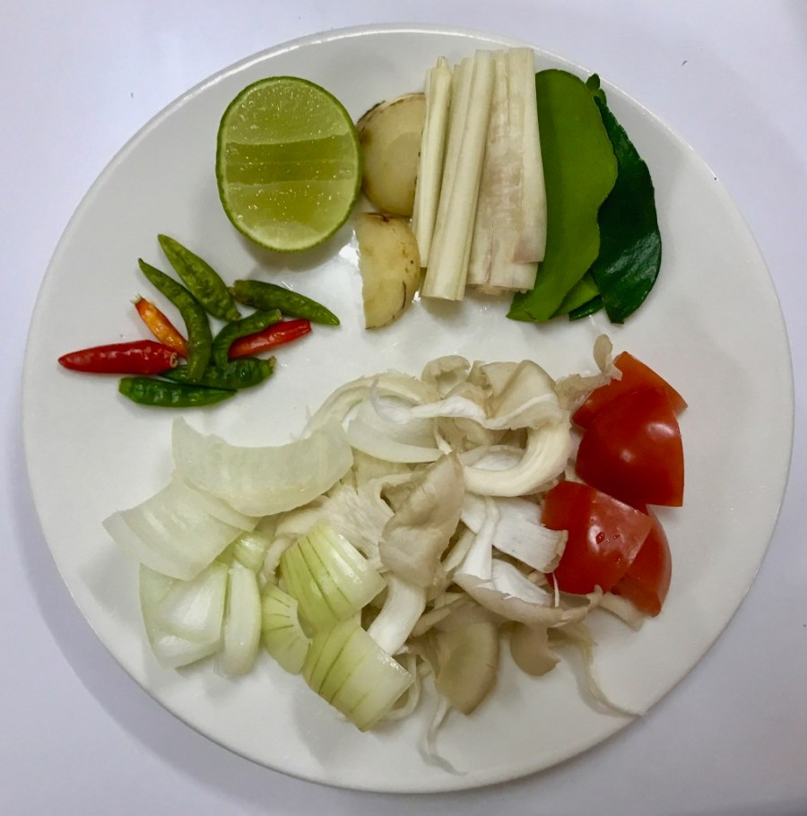 fresh thai ingredients on plate
