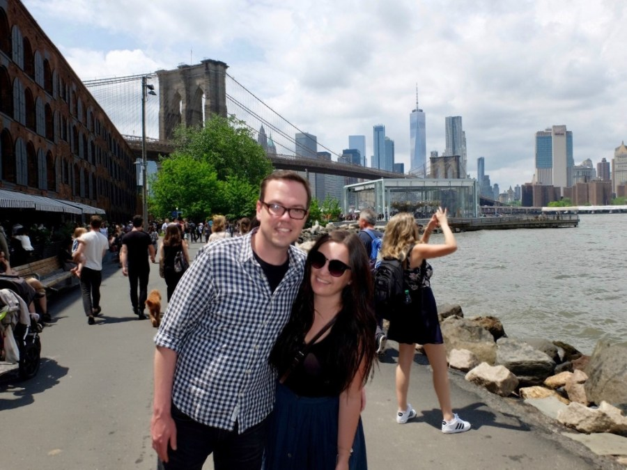 couple in dumbo brooklyn