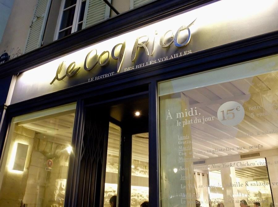 exterior of le coq rico paris