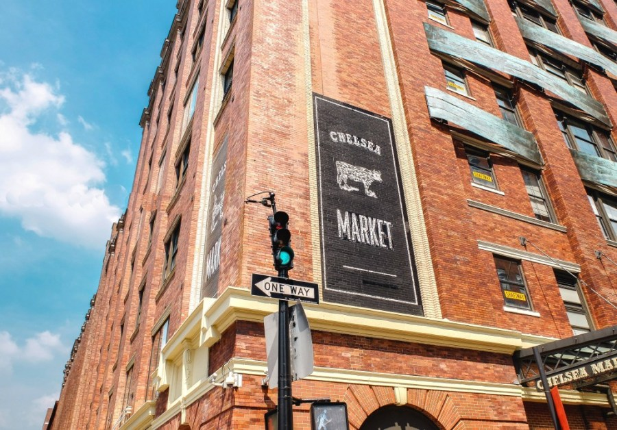 exterior of chelsea market in new york