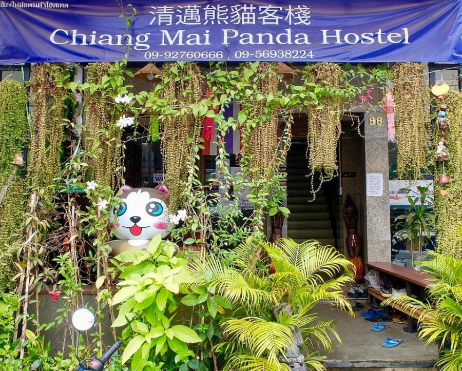 exterior of Chiang Mai Panda hostel