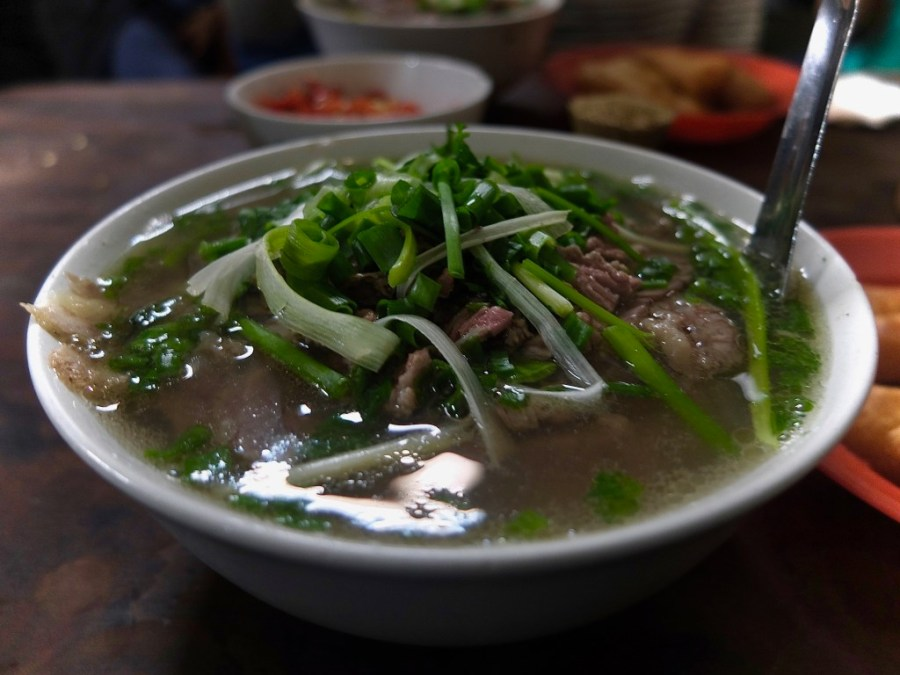 bowl of pho in hanoi
