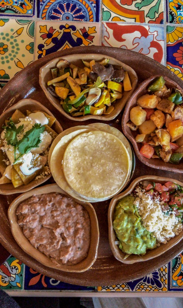 build your own taco platter