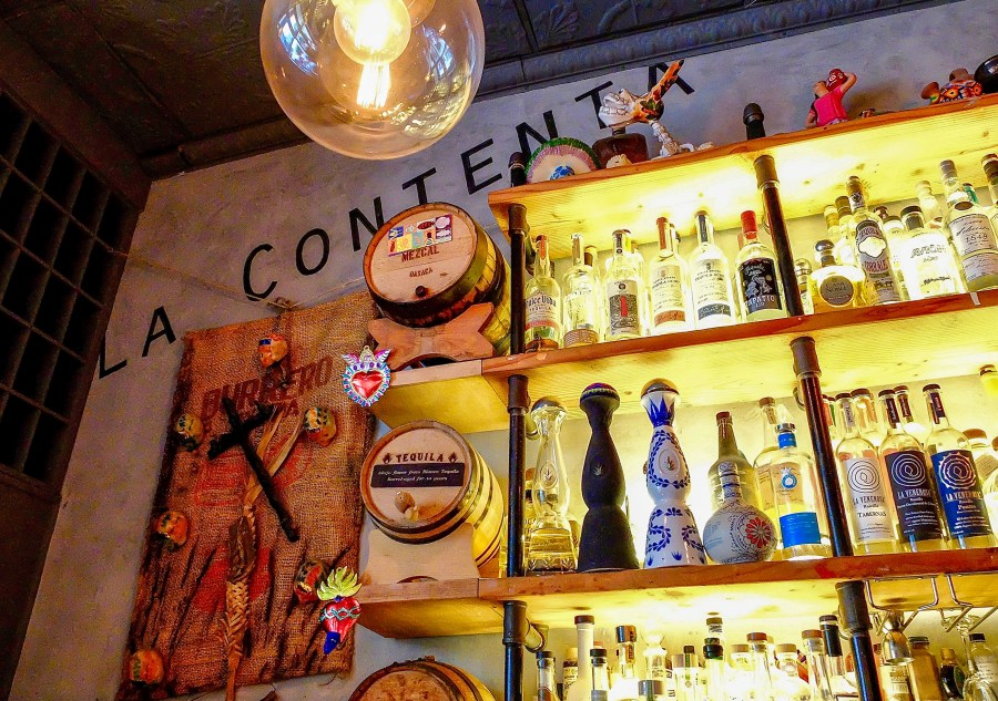 interior of bar at la contenta