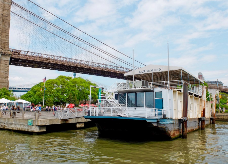 NYC ferry boat on east river