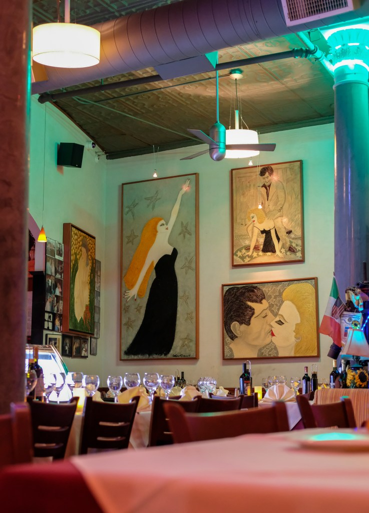 Interior of Dolce Vita in Boston