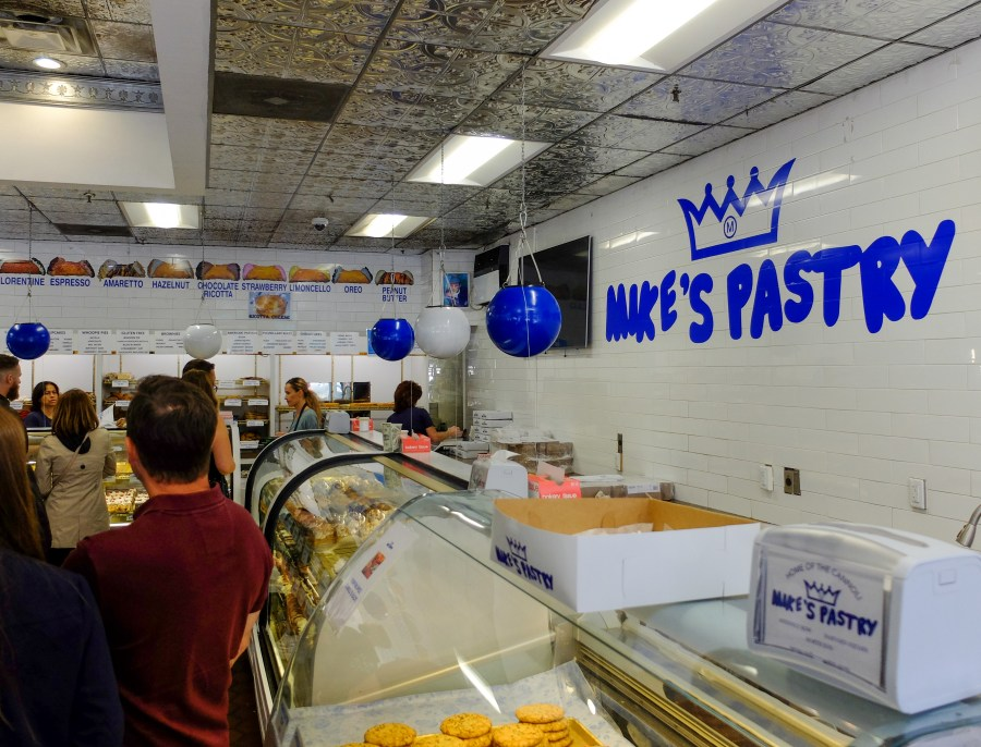 Interior of MIke's Pasty in Boston