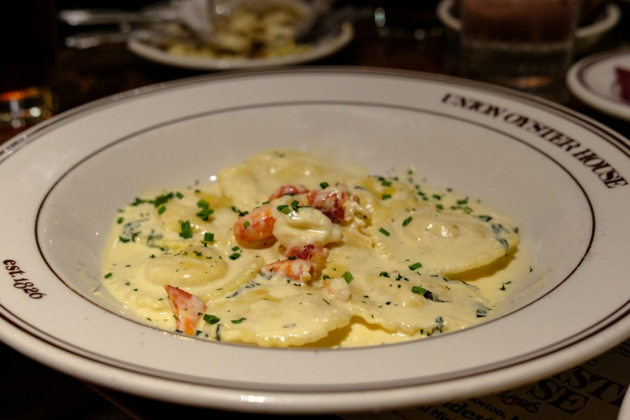 Lobster ravioli at Union Oyster House