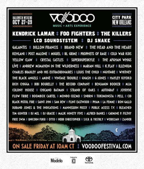 Voodoo + Music Arts Experience Announces 2017 Lineup