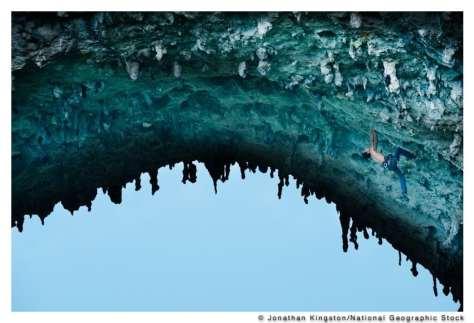 Rock climber, Moon Hill, Yangshuo, China. (Jonathan Kingston/National Geographic Stock)