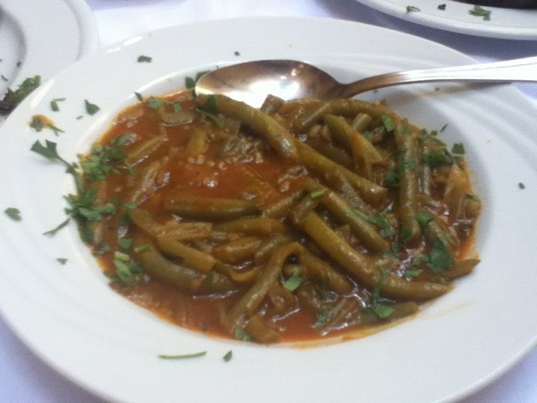 Green beans at To Steki Tavern, Chania, Crete