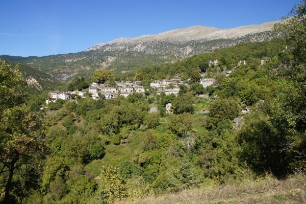 The beautiful village of Mikro Papingo, Greece