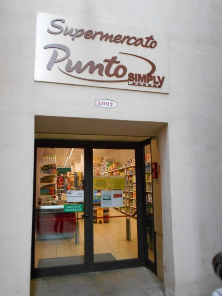 Entrance to supermarket in Venice, Italy