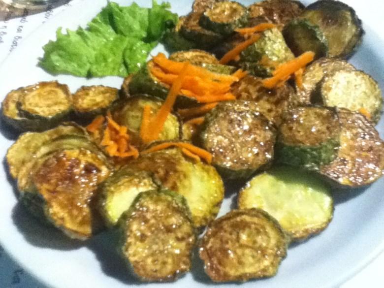 """Pumpkin Fries"" at vegan-friendly Balsamic Restaurant in Ioannina, Greece"