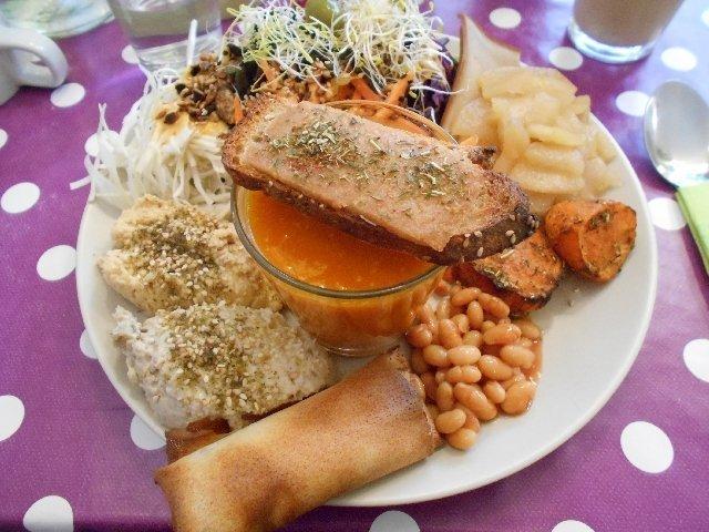 Vegan brunch at La Belle Verte