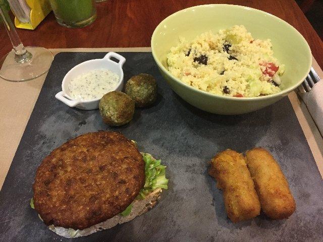 menu vegano - Cáceres