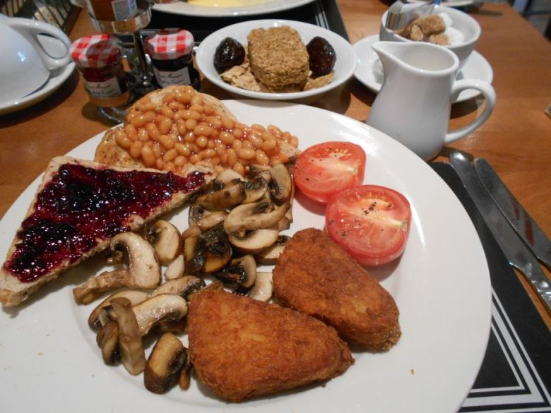 vegan English breakfast in Canterbury