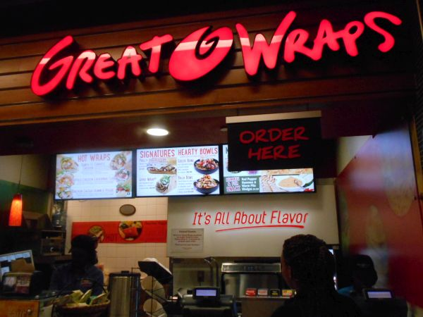 Great Wraps - vegan food in the Atlanta Airport