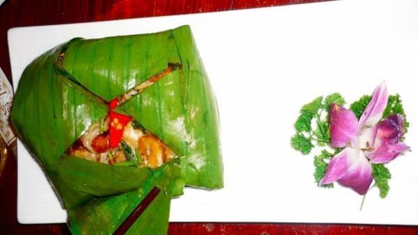 Mushrooms wrapped in banana leaves - Living The China Study