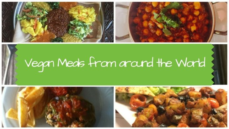 Vegan Meals from around the World - with photos
