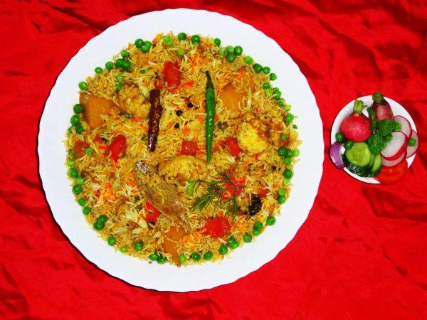 Vegetable Biryani - vegan Indian food