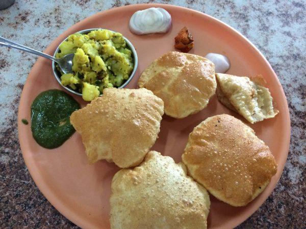 6. Aloo Puri - vegan Indian food