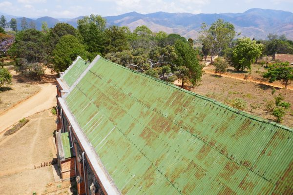 View from the Livingstonia church bell tower - Malawi food